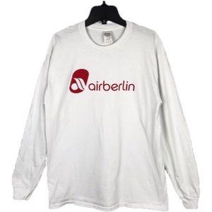 Air Berlin Long Sleeve T-Shirt White Medium
